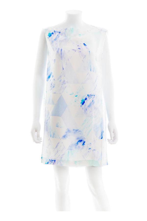 Sea & Sky silk dress made in tallinn