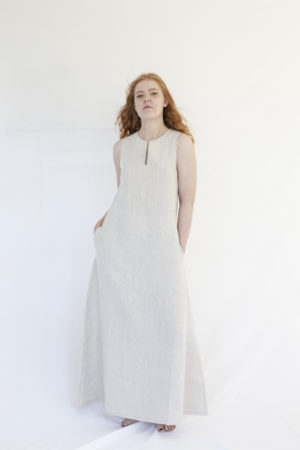 rumar linen maxi dress made in finland