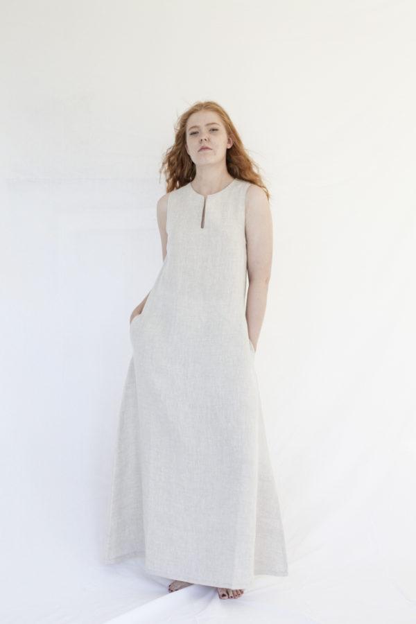 rumar linen maxi dress made in finland