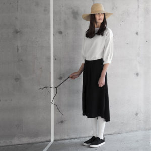 auri merino wool skirt made in finland