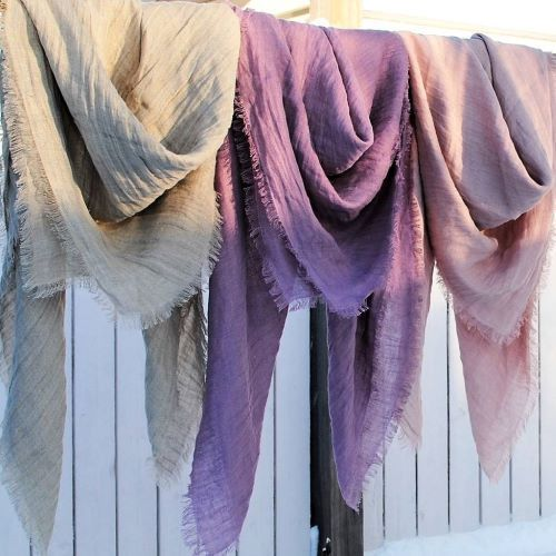 linen scarf made in finland