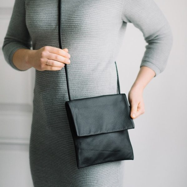 kirje reclaimed leather bag made in finland
