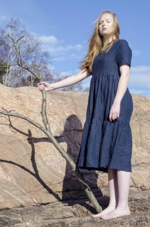 navy-gathered-dress