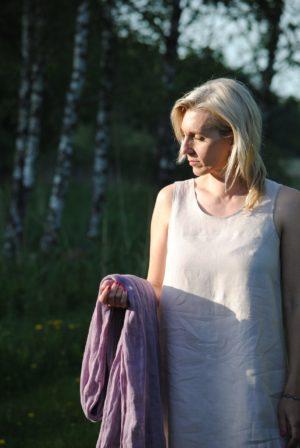 flax linen dress, made in finland