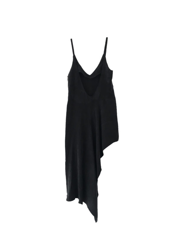 Asymetric slip Dress tencel made in england