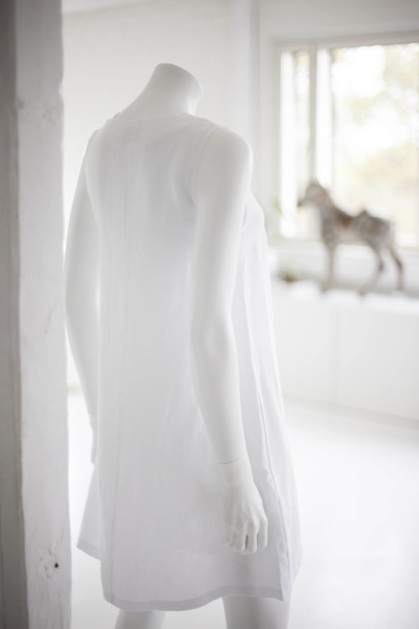 white linen tunic dress made in finland