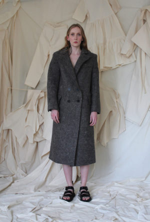 recycled wool coat made in england