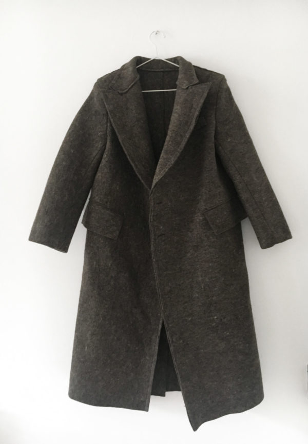 coat recycled wool made in england
