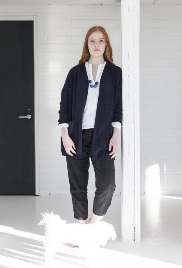 aspö cotton cardigan made in finland