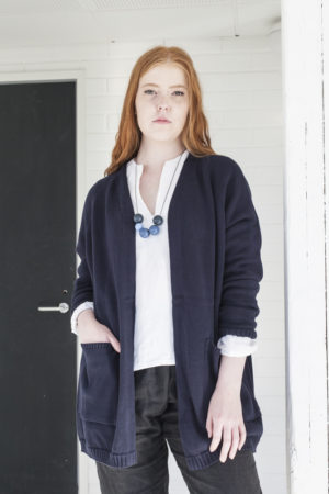 aspö cotton cardigan made in finland