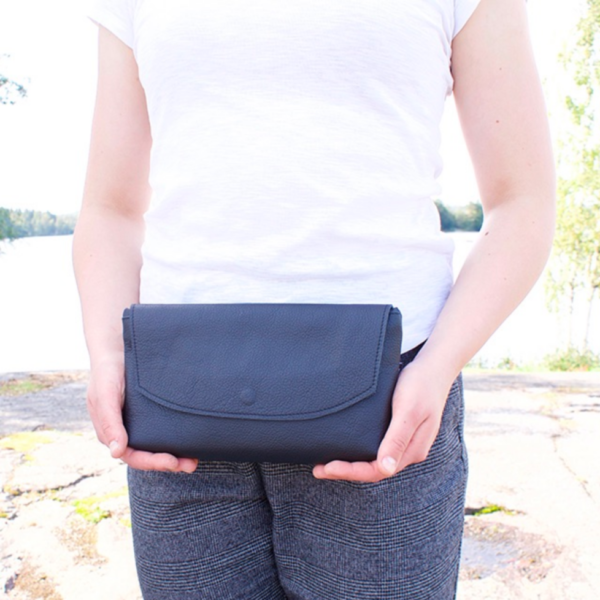 ilta reclaimed leather bag made in finland