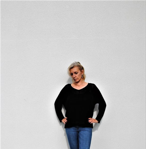 knit linen sweater made in poland