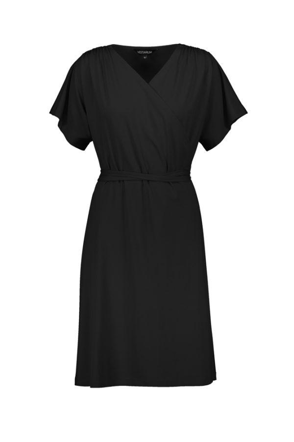 Greenwich_black wrap dress tencel made in tallinn