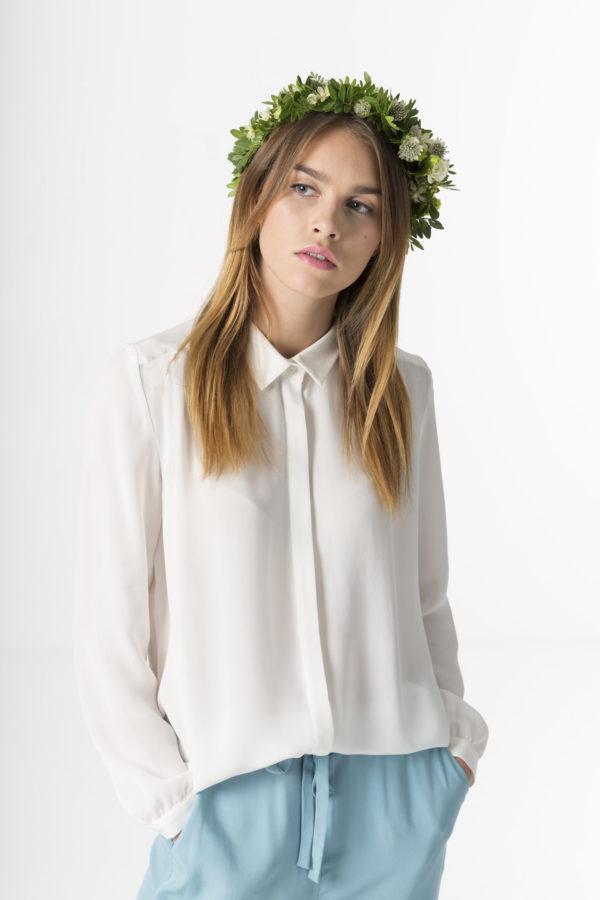 sibyl silk shirt made in estonia