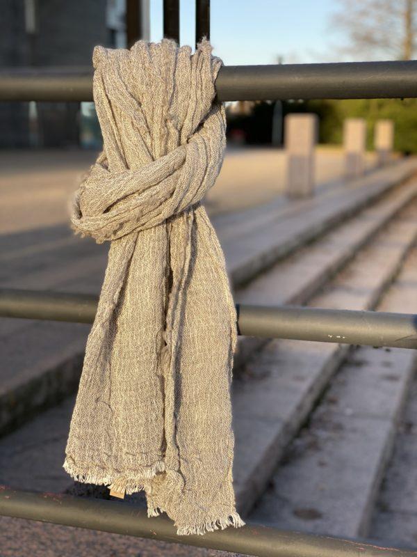 kaarna scarf finnsheep wool handwoven in finland