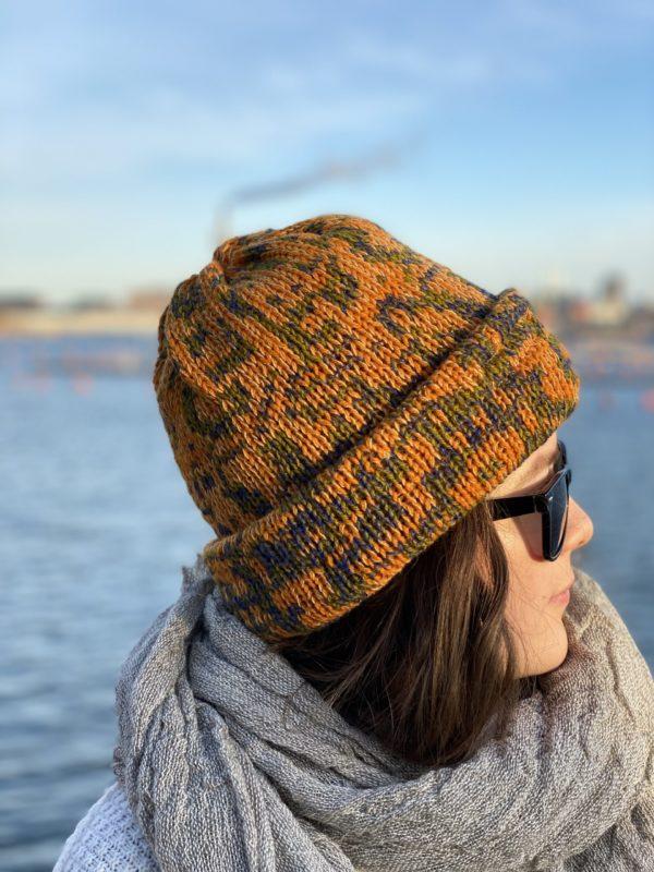 marmalade beanie wool knitted in fiskars finland