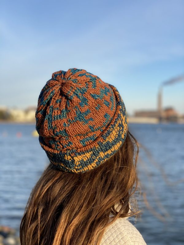 rusko beanie wool knitted in fiskars finland