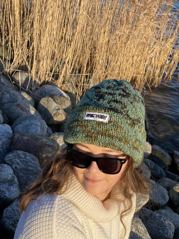 tussah beanie wool knitted in fiskars finland