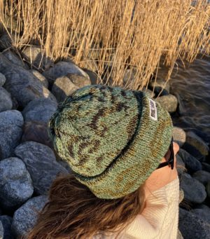 tussah beanie wool knitted in fiskars finland