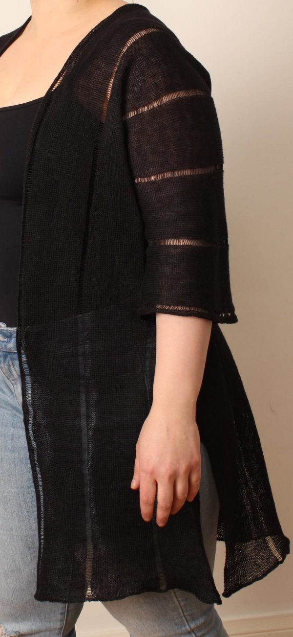 amono jacket linen handwoven in finland
