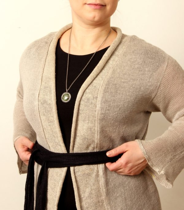 Damiana cardigan linen handwoven in finland