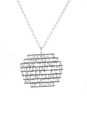 forever is composed of nows necklace