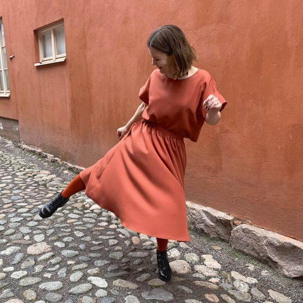 hulmuhelma skirt in tencel refibra, made in finland