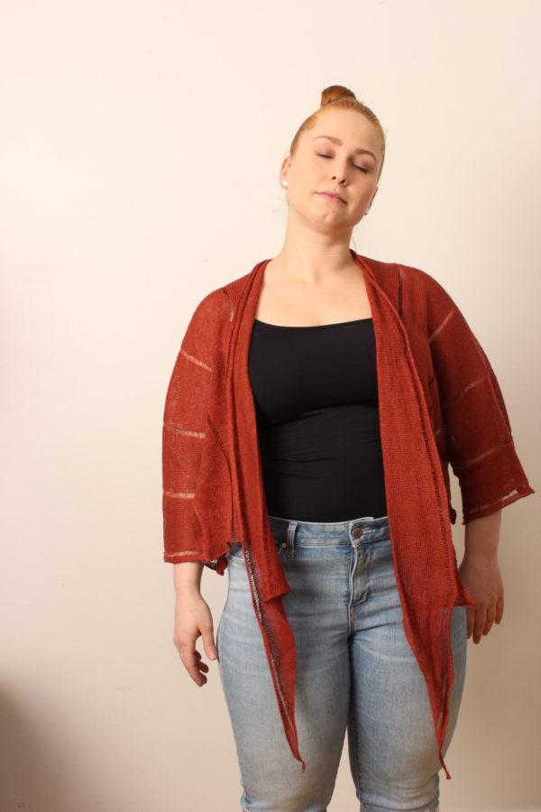 kiedo jacket linen handwoven in finland
