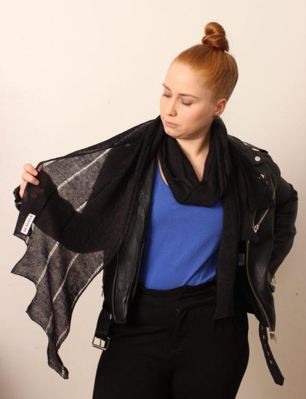 kiedo scarf linen handwoven in finland