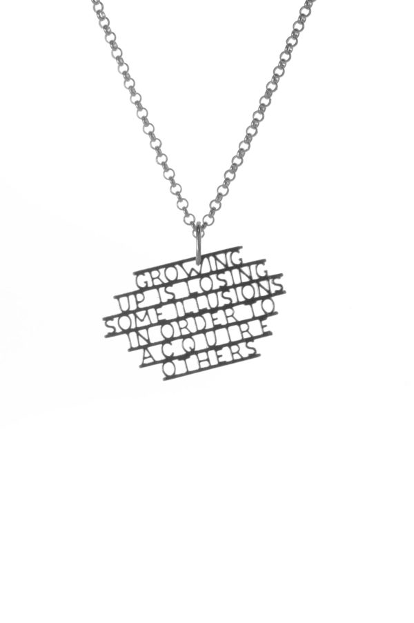 growing up necklace