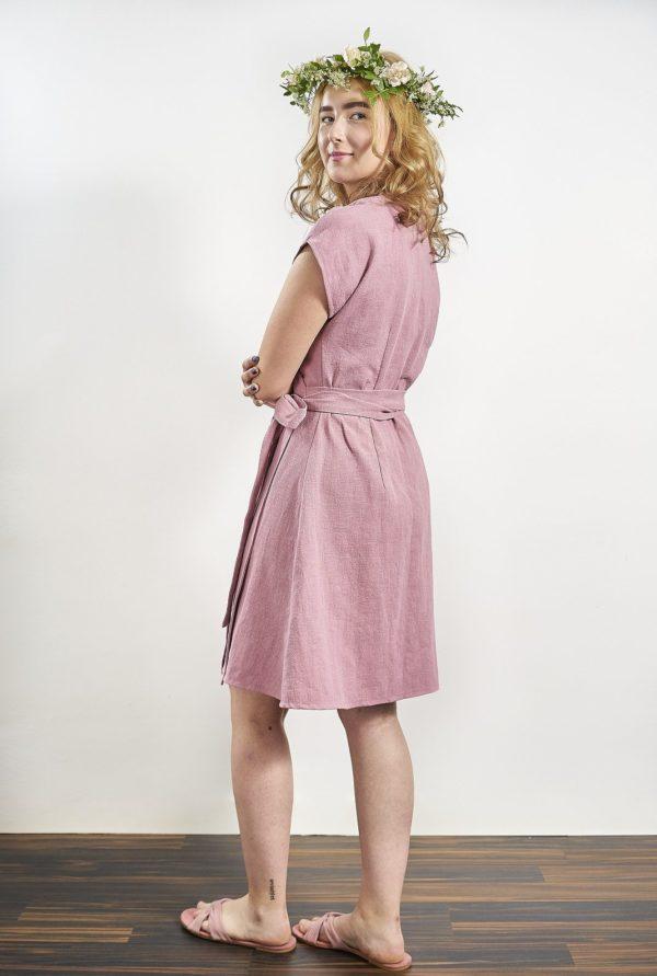 Laakso_dress_powder pink ramie, made in helsinki