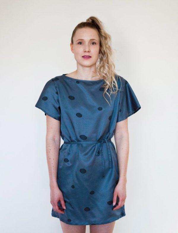 pompula dress silk, hemp, cotton, made in helsinki