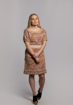 Grapefruits dress wool, knitted in fiskars finland
