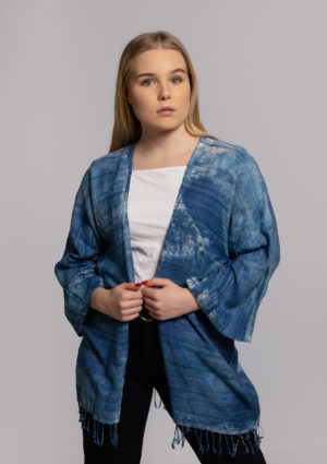 eri silk robe hand dyed in singapore