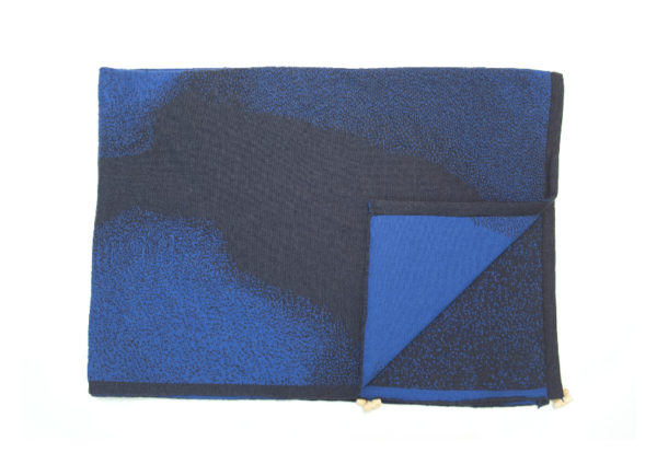 mini hihake jelena in blue merino wool, made in finland