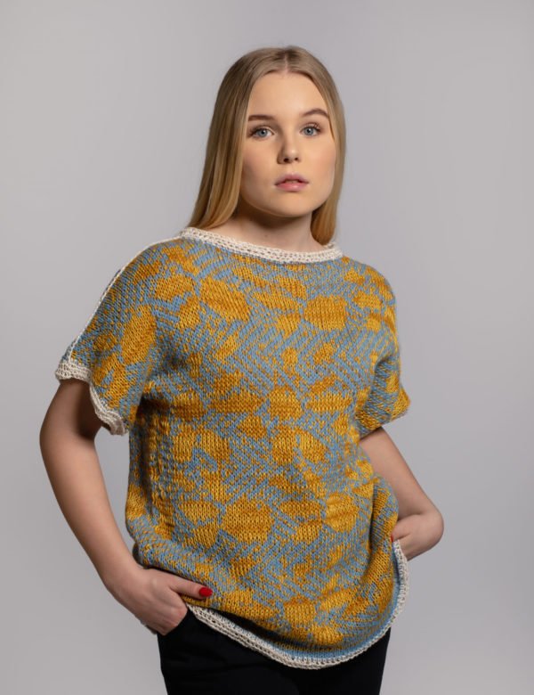 taivas knit top wool knitted in fiskars, finland