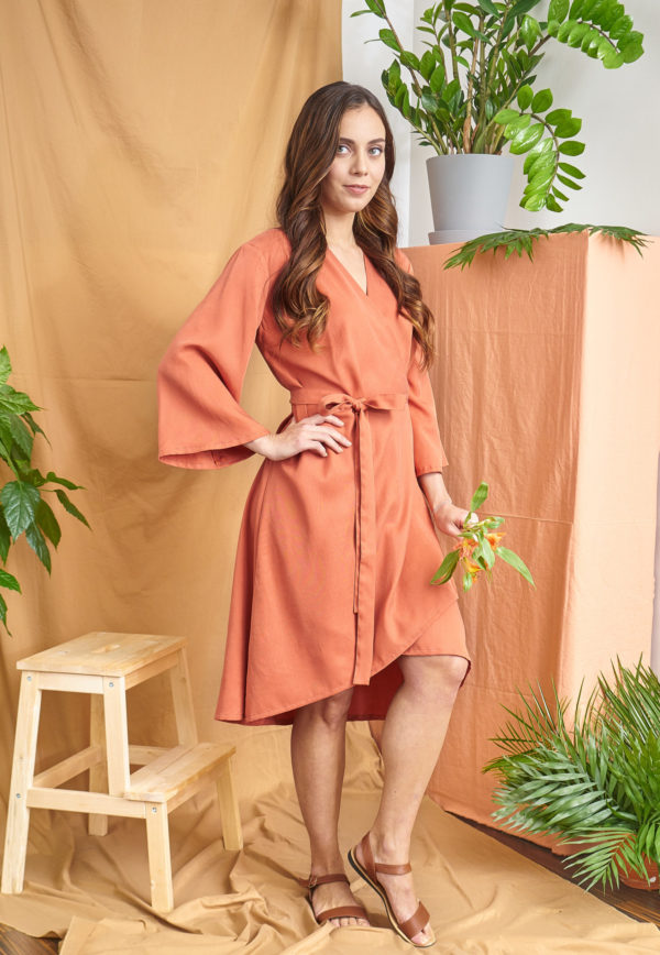 Iiris Dress in orange