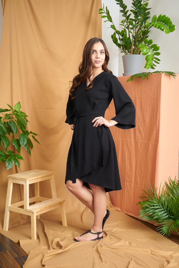 Iiris Dress in black tencel