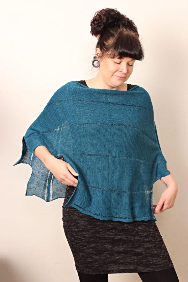 kiedo poncho linen, made in finland