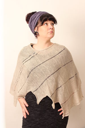 kiedo poncho linen, made in finland