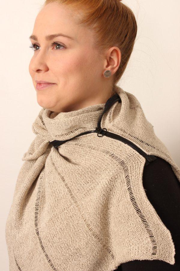 Santa zipper scarf linen, made in oulu