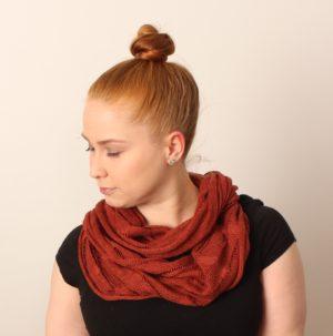 Terra Infinity Scarf linen, made in oulu finland