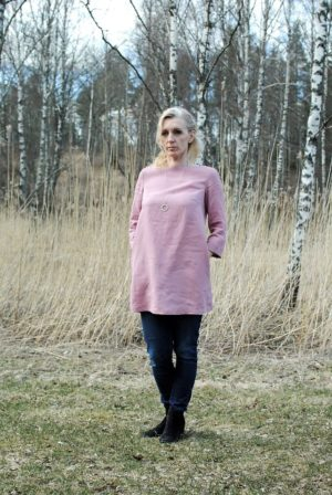 pellava tunic in dusty pink