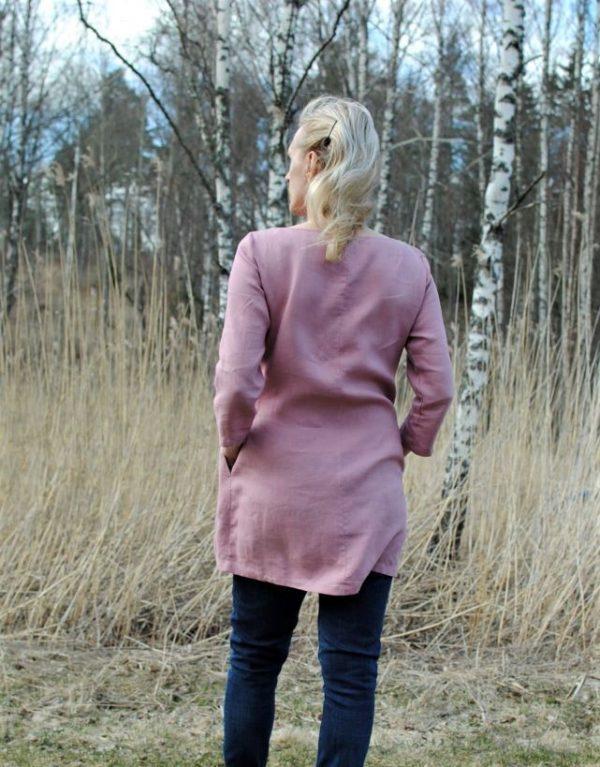 pellava tunic in dusty pink
