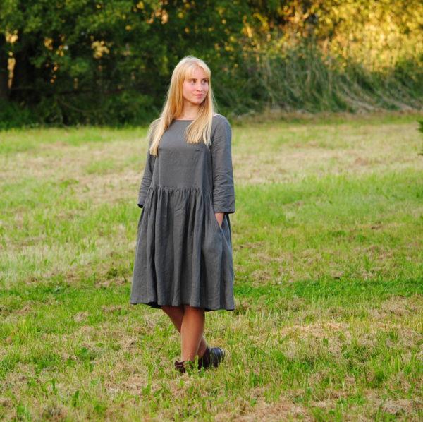 nostalgia dress in grey