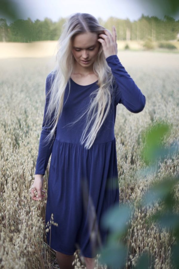 luisa dress in blueberry