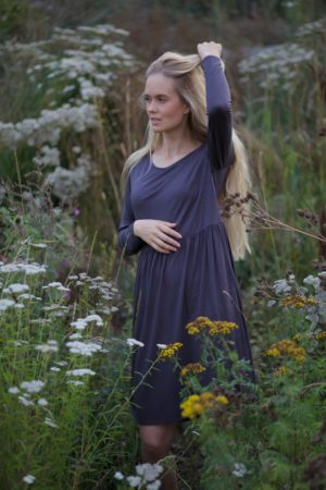 luisa dress in graphite