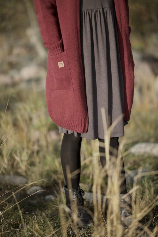 Ensilumi cardigan in red wine
