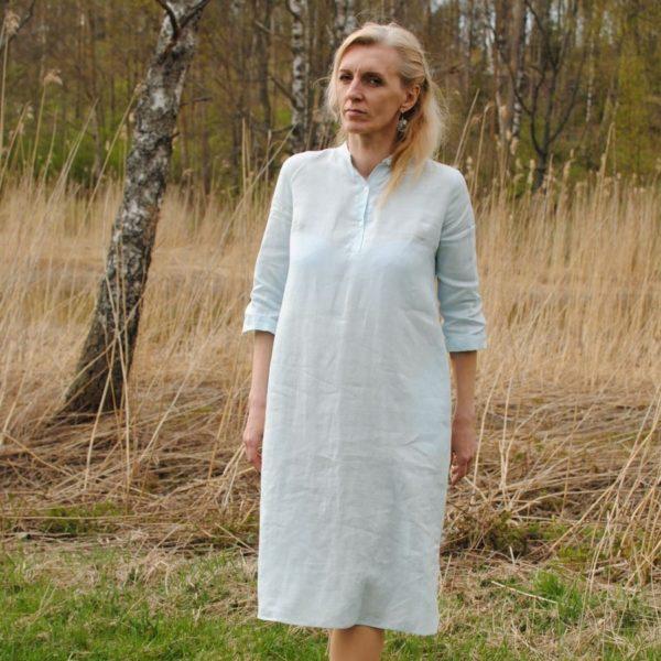 Linen shirtdress baby blue