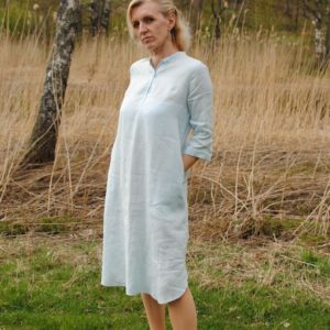 Linen shirtdress baby blue